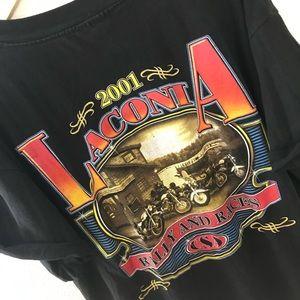 ++ [vintage] • black laconia rally 2001 t-shirt ++